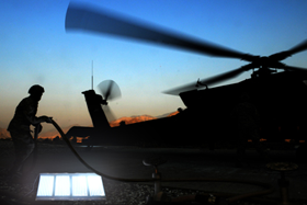 Panels can illuminate airfield systems